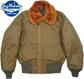 "BUZZ RICKSON'S/バズリクソンズ Jacket, Flying, Intermediate Type B-15""ROUGHWEAR CLOTHING CO."" ラフウェア社製、オフセットジッパーB−15 01)OLIVE DRAB(オリーブドラブ)/ Lot;BR14390"