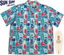 "SUN SURF/サンサーフ""PINEAPPLE BOY""by Masked Marvel COTTON SHANTUNG OPEN SHIRTマスクドマーベル・コットン アロハシャツ/コット…"