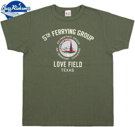"""BUZZ RICKSON'S/バズリクソンズS/S T-SHIRT """"5th FERRYING GROUP"""" 半袖プリントTシャツ/カットソー OLIVE(オリーブ)/BR78286"""