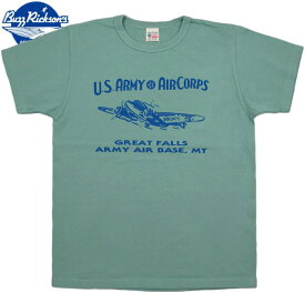 """BUZZ RICKSON'S/バズリクソンズS/S T-SHIRT """"GREAT FALLS ARMY AIR BASE"""" 半袖プリントTシャツ/カットソー SAGE GREEN(セージグリーン)/BR78176"""