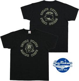 """BUZZ RICKSON'S/バズリクソンズS/S T-SHIRT """"U.S. MARINE CORPS"""" 半袖バックプリントTシャツ/カットソー BLACK(ブラック)/BR78292"""