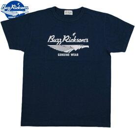 BUZZ RICKSON'S/バズリクソンズ TRADE MARK T-SHIRT トレードマークTシャツ/バズロゴTシャツ NAVY(ネイビー)/BR78304