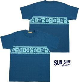 """SUN SURF/サンサーフ S/S T-SHIRT""""TRIBAL"""" 半袖プリントTシャツ/カットソー NAVY(ネイビー)/SS78233"""