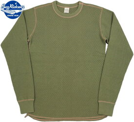 BUZZ RICKSON'S/バズリクソンズ L/S THERMAL T-SHIRT 長袖無地サーマルTシャツ/ワッフルカットソー OLIVE(オリーブ)/BR63755