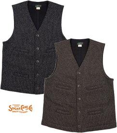 SUGAR CANE/シュガーケーン BEACH CLOTH VEST ビーチクロス ベスト/ジレ Lot;SC14773