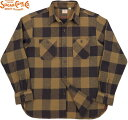 SUGAR CANE/シュガーケーン TWILL CHECK L/S WORK SHIRT ツイルチェック ワークシャツ/チェックシャツ/綿ネルシャツ BROWN(ブラウン)/S…