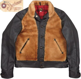 "MFSC Made in U.S.A. COWHIDE×SHEEPSKIN ""BLACK×BROWN""BALOO バルージャケット/熊ジャン BLACK(ブラック)/SC80566"