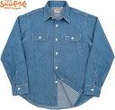 SUGAR CANE/シュガーケーン BLUE DENIM L/S WORK SHIRT AGED MODEL デニムワークシャツ/デニムシャツ/デニシャツ H.BLUE(エイジドブル…