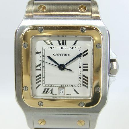 【質屋出店】【当店保証1年付】カルティエ サントスガルベLM(旧ブレス) 187901 メンズ 時計【中古】