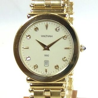 Waltham 990 YG (yellow) solid diamond 8 P index 94660. 26 men's