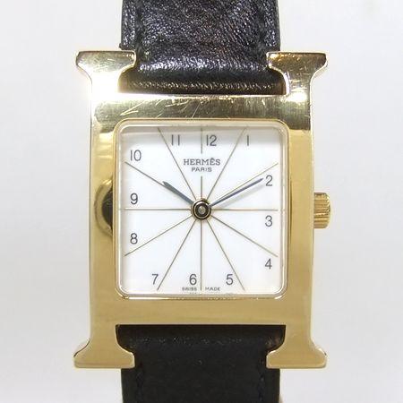 【質屋出店】【当店保証1年付】エルメス Hウォッチ HH1.201 レディース 時計【中古】