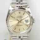 【質屋出店】【当店保証3年付】ロレックス デイトジャスト K18WG(ホワイトゴールド)ベゼル 16234 メンズ 時計…