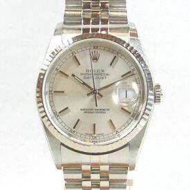 【質屋出店】【当店保証3年付】ロレックス デイトジャスト K18WG(ホワイトゴールド)ベゼル 16234 メンズ 時計【中古】