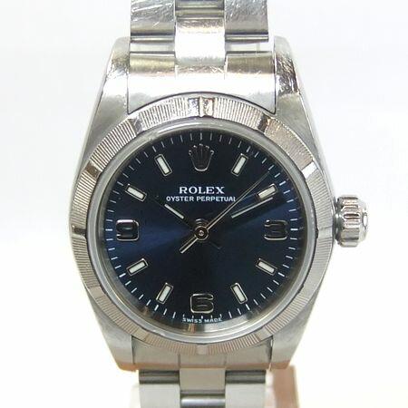 【質屋出店】【当店保証3年付】ロレックス オイスターパーペチュアル 76030 レディース 時計【中古】