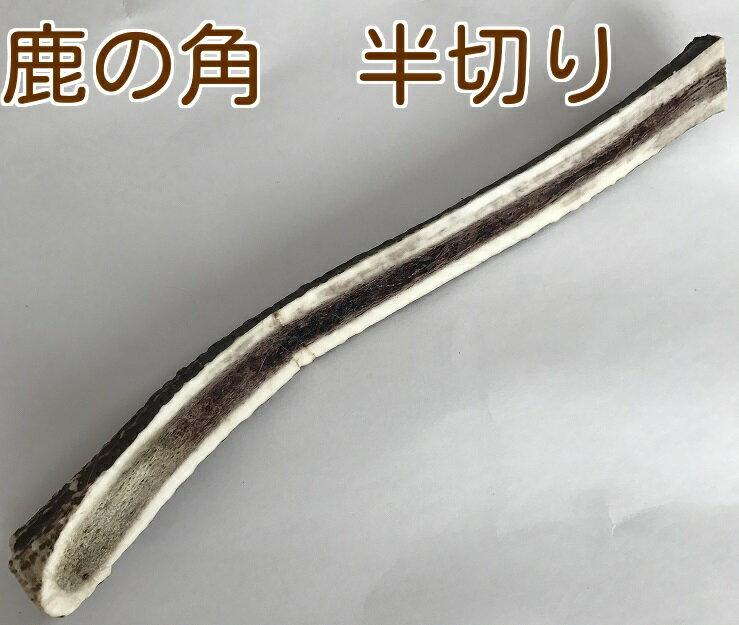 鹿の角 特大【半切り 1本】本州鹿の角20〜25cm(天然鹿の角)