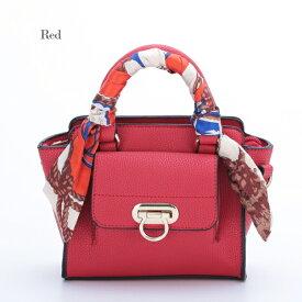 【 DISESTESSI】 5024ハンドバッグ スカーフ付 ショルダー付 レッド 赤