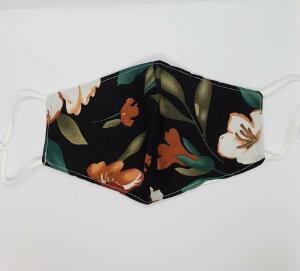 大きな花 花柄マスク 薄手マスク コットンマスク 立体マスク 1枚(洗えるマスク おしゃれマスク )大人用 かわいいマスク レディース 除菌 ファッションマスク ひも調節付き アジャスター