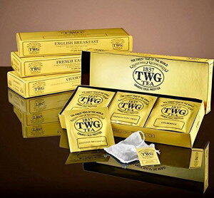 シンガポールの高級紅茶TWGシリーズ(Classic Teabag Selection 3種類×5パック ) ENGLISH BREAKFAST,FRENCH EARL GRAY,CHAMOMILE