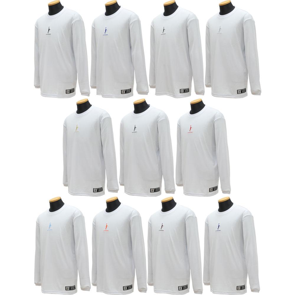 インザペイント IN THE PAINTワンポイント ロングTシャツ限定 ロンT 練習着 バスケ(ホワイト)【ITP-MS2-WHITE】【受注生産 納期約3週間】