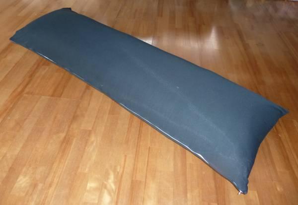 抱き枕中身 黒無地カバー付き 中綿4kg 150x50cm ロングクッション  妊婦 授乳 マタニティ いびき防止