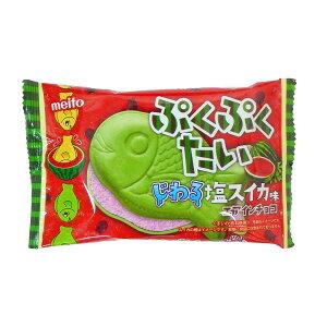 【メイトー】ぷくぷくたい チョコ 塩すいか味10個入り1BOX <夏季クール便配送(別途220円〜)>