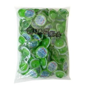 【駄菓子】青りんごボールゼリー 100個入×30袋(3000個) カップゼリー 代引き不可 駄菓子【江口製菓】