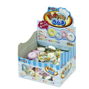 【特価】ドーナッてるのラムネ 80個入り1BOX 丹生堂【数量限定】【駄菓子】