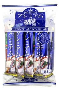 【駄菓子】プレミアムうまい棒 モッツァレラチーズ味&カマンベールチーズ味 10本入【卸価格】TVで放映!人気急上昇