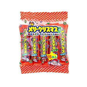 黒糖ふがし 15本×6袋 個装入 クリスマスバージョン 麩菓子 【駄菓子】☆限定生産品☆