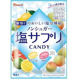 カンロ ノンシュガー塩サプリキャンディ 70g ノンシュガー塩飴 熱中症対策に