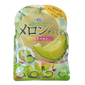 メロンづくし キャンデー 85g×1袋 【扇雀飴本舗】 5種類のメロンアソート