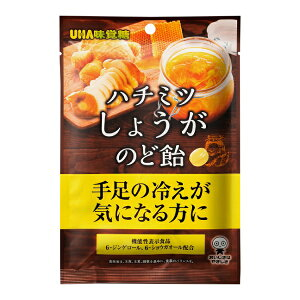 【UHA味覚糖】ハチミツしょうがのど飴74g 機能性表示食品  蜂蜜 生姜 のど飴
