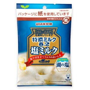 【期間限定】特濃ミルク8.2 塩ミルク 袋キャンデー 75g×6袋 UHA味覚糖 湖の塩 レイククリスタルソルト使用 熱中症対策にも