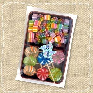 【上品な京飴菓子】小さい風車と棒付きの大きい風車あめ(切飴)100g(株)サンシャイン【特価】