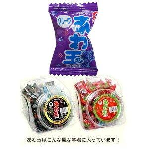 【駄菓子】あわ玉 キャンディ グレープ味 ポット入り当たりつき!(10円×100個入り)