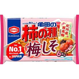 亀田の柿の種 梅しそ 6袋詰 173g 亀田製菓【特価】