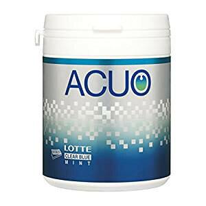 【特価】ロッテ ACUO(アクオ) クリアブルーミント ファミリーボトル ガム 140g×1個【卸価格】LOTTE
