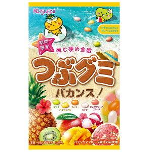 【特価】つぶグミ バカンス 75g×90袋入り 5つのトロピカルフルーツ 春日井製菓 【卸価格】
