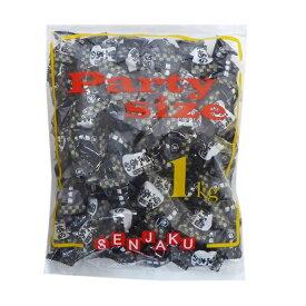 1kg入 黒あめ 沖縄産黒砂糖がけ 【扇雀飴本舗】黒飴 徳用袋 1キロ入 ANAも認めた黒飴