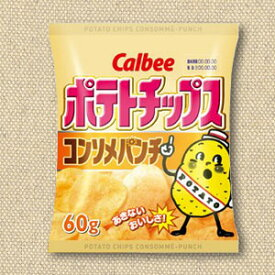 【特価】カルビー ポテトチップス コンソメパンチ味 60g 12袋入り×4BOX【まとめ買い】