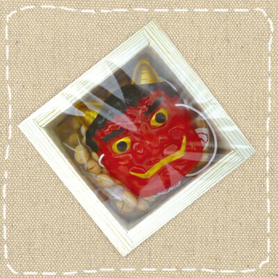【節分】2月3日節分用 福豆 35g升(マス)タイプ 鬼のミニお面付き【卸価格】