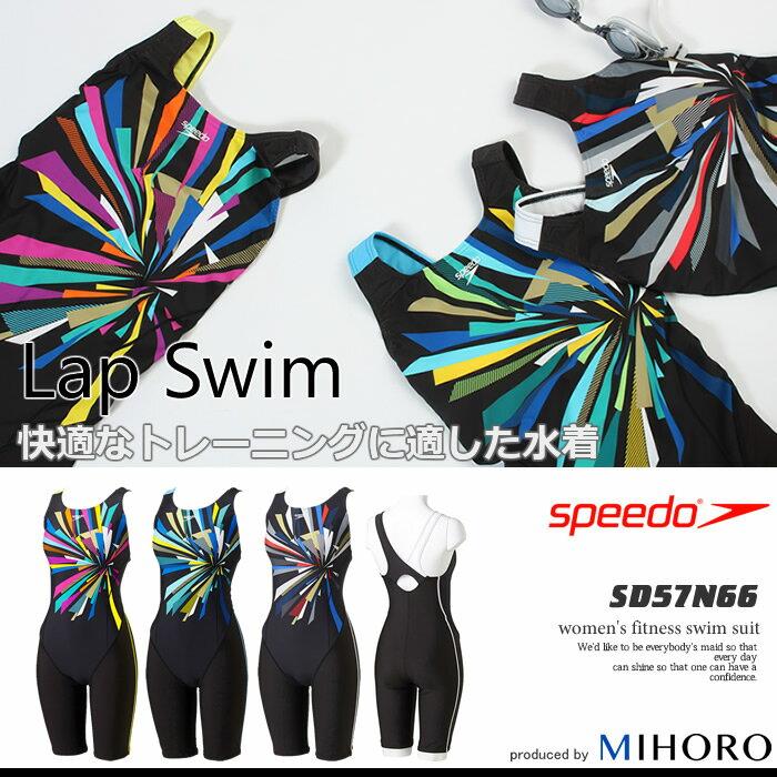 レディース レーシングフィットネス水着 オールインワン speedo スピード SD57N66