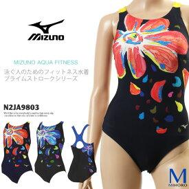 レディース フィットネス水着 ワンピース mizuno ミズノ N2JA9803