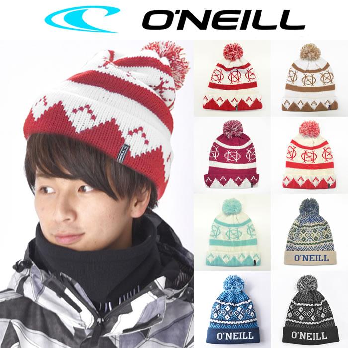 [O'NEILL]オニール メンズ スノー ニット ビーニー ボンボン ニットキャップ スノーボードウェア スキー 単品 FREE 644900 684900 645900