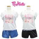 水着 PINK-latte ピンクラテ ジュニア 水着 子供 女の子 140/150/160/170cm カップ付 プリントTシャツ付 水…