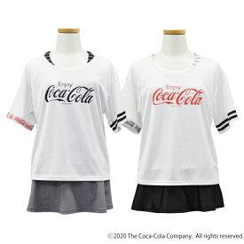 送料無料 COCA-COLA コカ·コーラ 水着 150/160/170cm カップ付 Tシャツ