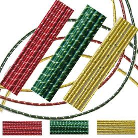 水引 水引き材料ベストセレクション【蒔絵風水引セット】赤と緑3色30本ずつ合計90本セット!水引細工手芸やラッピングに!【送料無料】