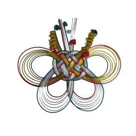 水引飾り 水引パーツ 青赤入金銀二本蝶 10個セット 日本製 和風ラッピング 和の装い!4(40個)まで【メール便 対応可】