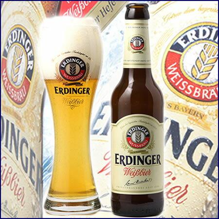 [本場の味]ドイツビール_エルディンガー・ヴァイス・ビア・ヘーフェ(酵母入)330ml(瓶)×24本【送料無料】 【RCP】【楽ギフ_のし】【楽ギフ_のし宛書】