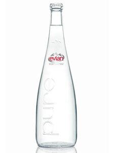 エビアン/evian 750mlx12本入り (瓶/グラスボトル)送料無料  【RCP】